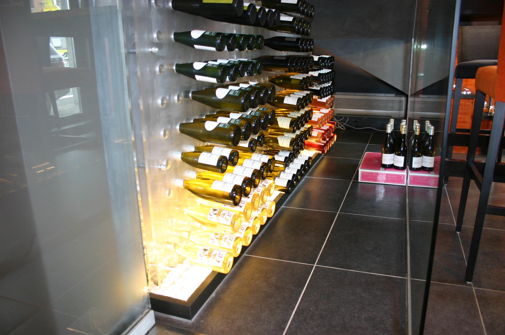Cave à vin vitrée - Wine Stone