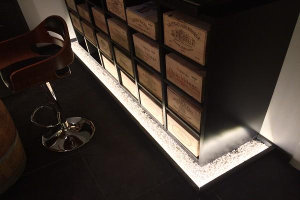 armoire à vin - rangement cave à vin